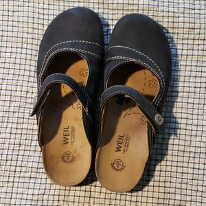 Dr. Weil mules with Orthaheel, women's size 9(40)